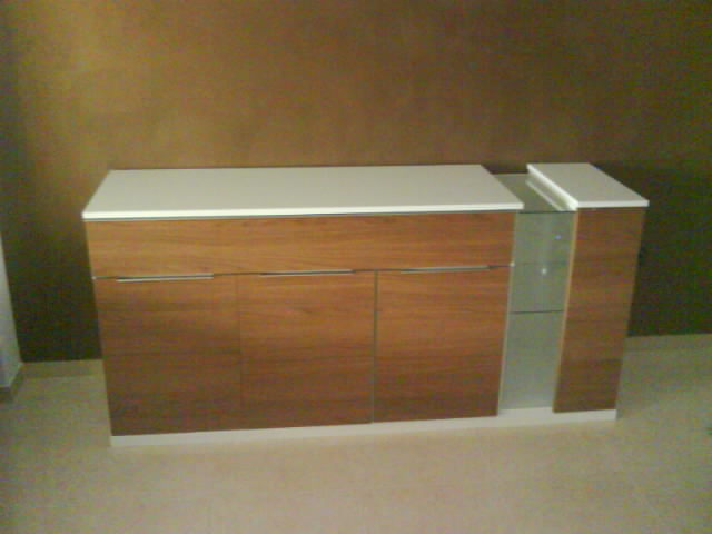 Proyectos reales buffet y mueble t v mobles avenida for Buffet mueble